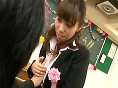 Provocative Oriental teacher seduces a student to get what