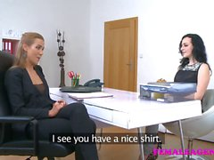FemaleAgent Sexy pierced nipples turns agent on