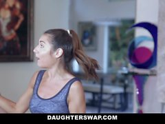DaughterSwap - Gymnast Dad Fucks Tight Petite Teen