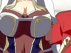 Cute 3d anime princess gets her huge boobs teased