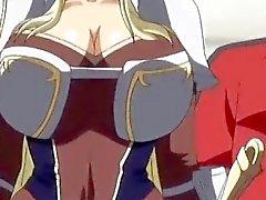 Cute 3D di anime la principessa ottiene i suoi grossi seni prendevano in giro