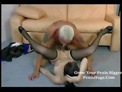 German brunette trades oral and then gets her pussy plowed