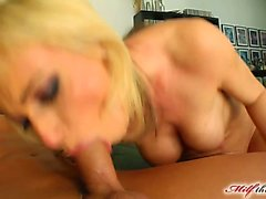 Betty is in her late thirties and she just loves cock. She takes our guy's dick deep inside her ass. She gets fucked hard and swallows a load of cum