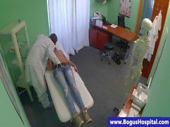 Blonde patient fucked and licked by dr