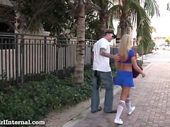 Teen Cheerleader Gets Creampied!