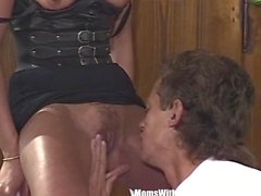 Smalltit Blonde MILF Sucking And Fucking Fat Cock