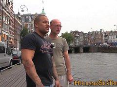 Dutch hooker swallows cum