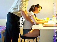 Busty schoolgirl lured by her teacher