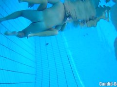 Horny Nudist Couples Underwater Pool Hidden Spy cam Voyeur 3