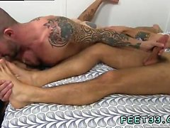 Gay twink feet cum first time Caleb Gets A Surprise Foot Job
