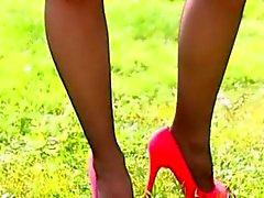 sweet public striptease