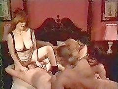 Bisexual bedroom group fuck