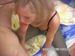 POW Gagging with tight little Teen Slut