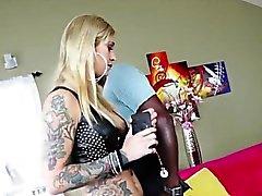Hot blonde Kleio goes hardcore butt sex