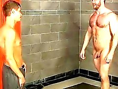 Male models Caught in the showers by the boy, coach Shay just can't