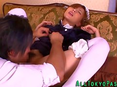 amateur asian maid licked