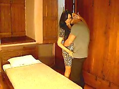 busty latina brunette cheating on her boyfriend