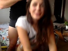 Amateur teen gives pov lapdance