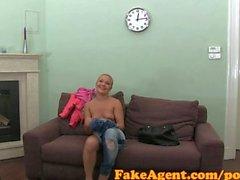 FakeAgent HD Mature amateur takes frantic facial