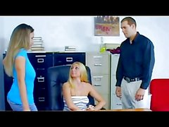 Office strapon girls scene2