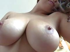 Huge natural tits Sierra gets creampied