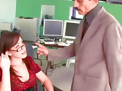 Super hot secretary gets nasty with her boss