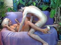 Hairy french cougar hard banged and sodomized w jizz on body