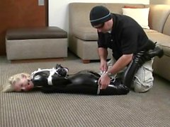 Tied In Heels - Liz Ashley... Struggle in your boots mistress
