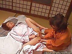 Mogen nihonjin honung har lezbo