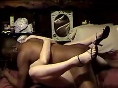 Blonde milf fucks and sucks with sexy black friend