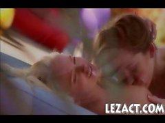 Cuties Dani Daniels and Ivana Sugar kissing and clit fondling