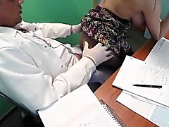 Cock hungry patient fucks doctor in a fake hospital