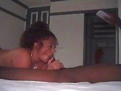 grande gina ass espólio está em jamaica obter algum grande galo negro, no hotel dela