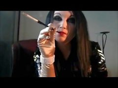 Goth Chick Smokes Hard looking HOT