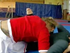 Catfight between Santas helpers