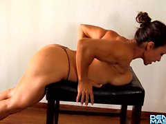 Denise Masino - Stretching Turns Me On - Female Bodybuilder