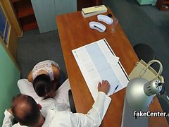 Russian babe fucking doctor in his office