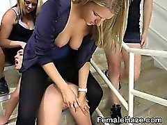 College Girls Finger Banging Pussy At Hazing Party
