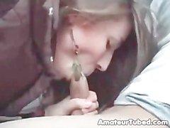 Amateur teen blowjob amp cum swallow in car