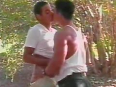 Forest fuck for two cute latinos