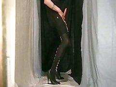 Crossdresser In Black Dress