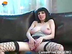 BDSM Goth Punk Bondage Lesbians On Webcam Show!