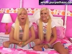REALLY YOUNG Blonde Teen Lesbians Getting It On