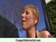 Milf cougar hottie rides black cock 6