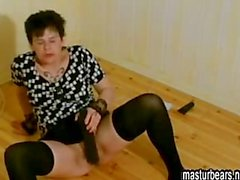 Kinky housewife Karen enjoying big toys