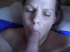Puffy blonde milf enjoys penis in fluffy puss and her mouth