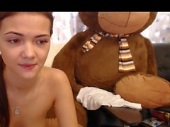 18 College Webcam POV Shaved Step Sister Rubs Pussy E1 HighDef