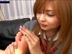 Arisa & Inamori Keito - JP schoolgirls foot pheromones are best aphrodisiac