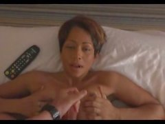 Black Milf with Big Tits Gets a big Facial