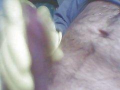 Rubber glove wanking
